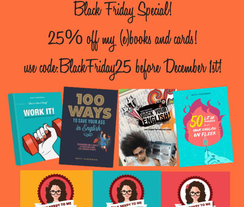 Yes, even I have jumped on the Black Friday bandwagon….it's discount time! :)